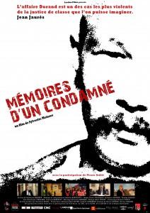 Affiche def A4 MEMOIRES D'UN CONDAMNE