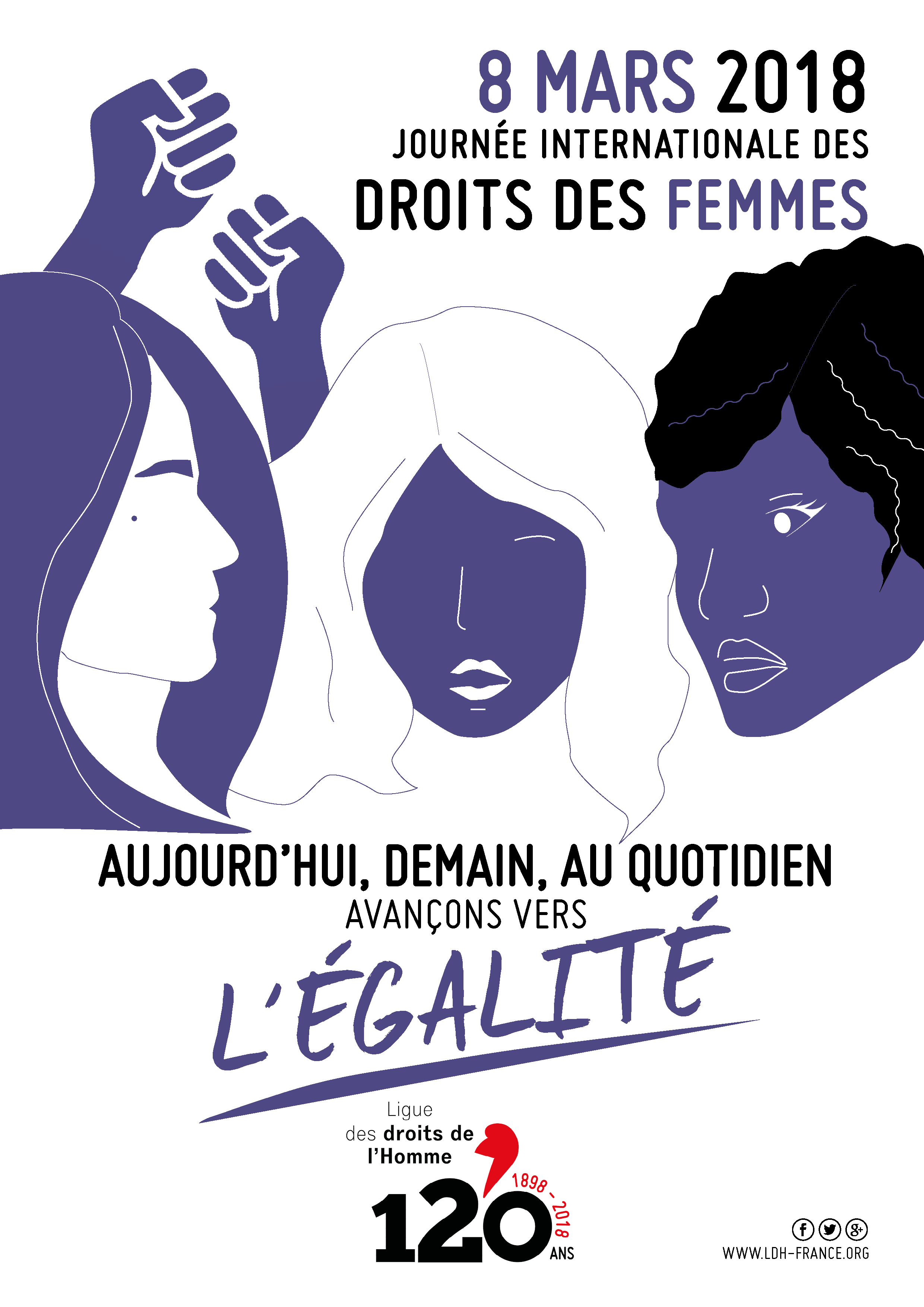 Génial Affiche Pour La Journée De La Femme la ldh se mobilise pour le 8 mars partout en france ! | ldh