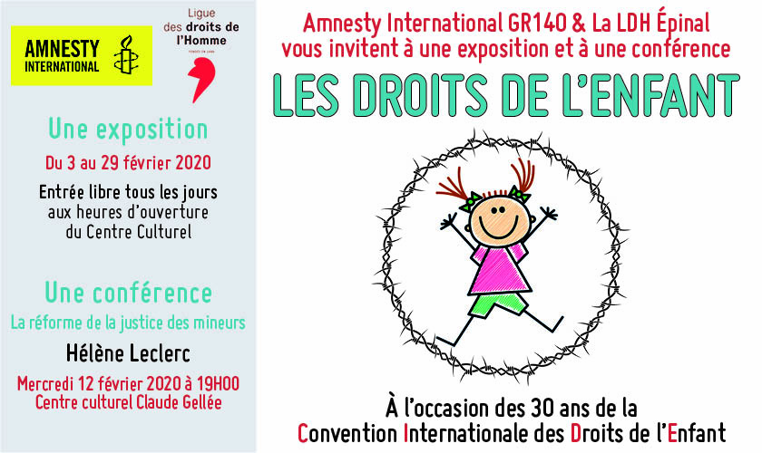 Exposition sur les droits de l'enfant