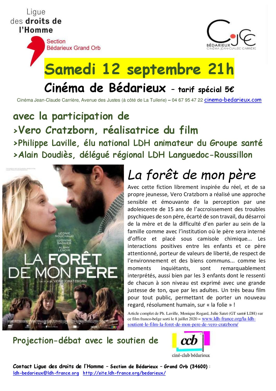 """Projection-débat : """"La forêt de mon père"""""""
