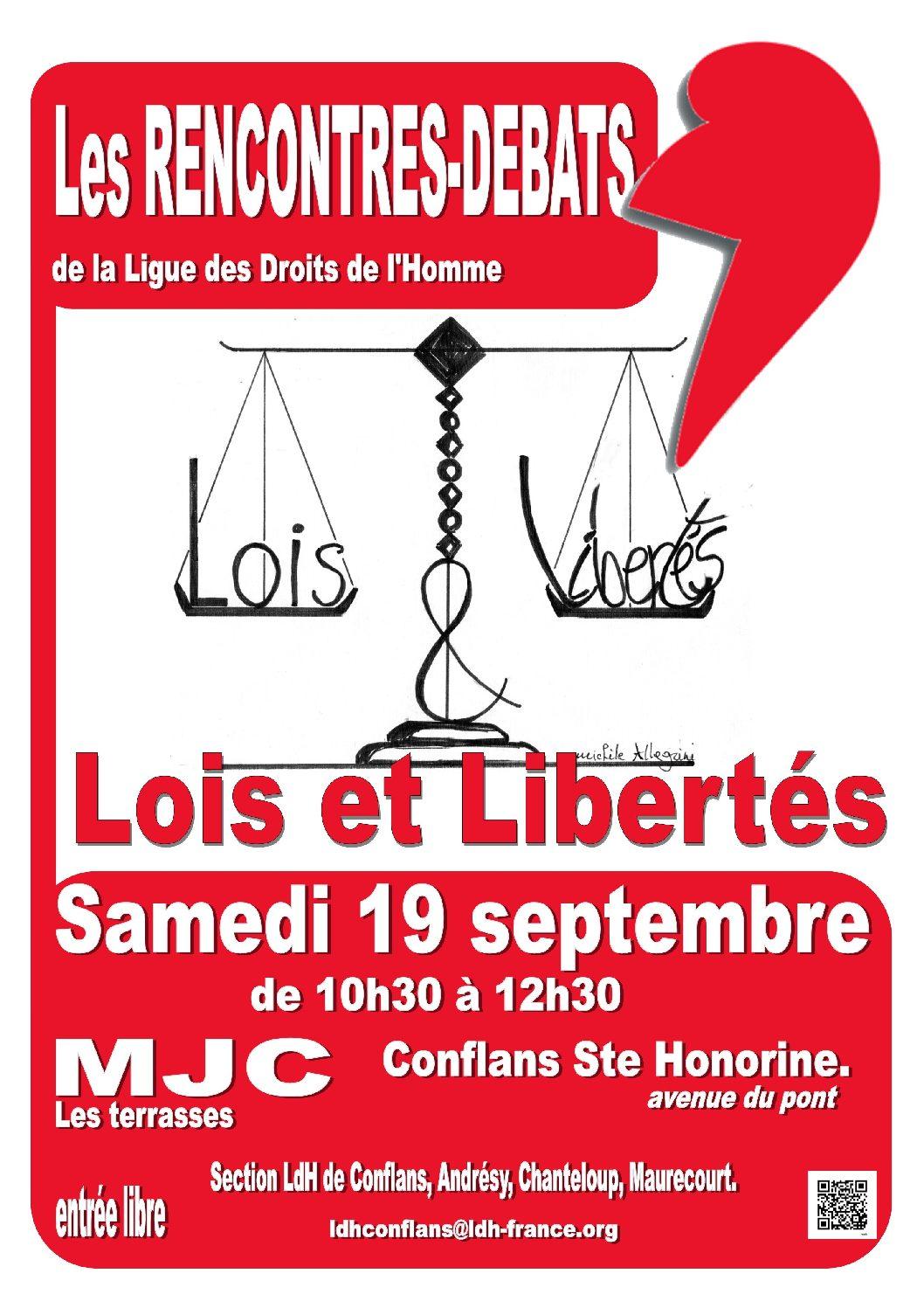 """Rencontre-débat : """"Lois et libertés"""""""