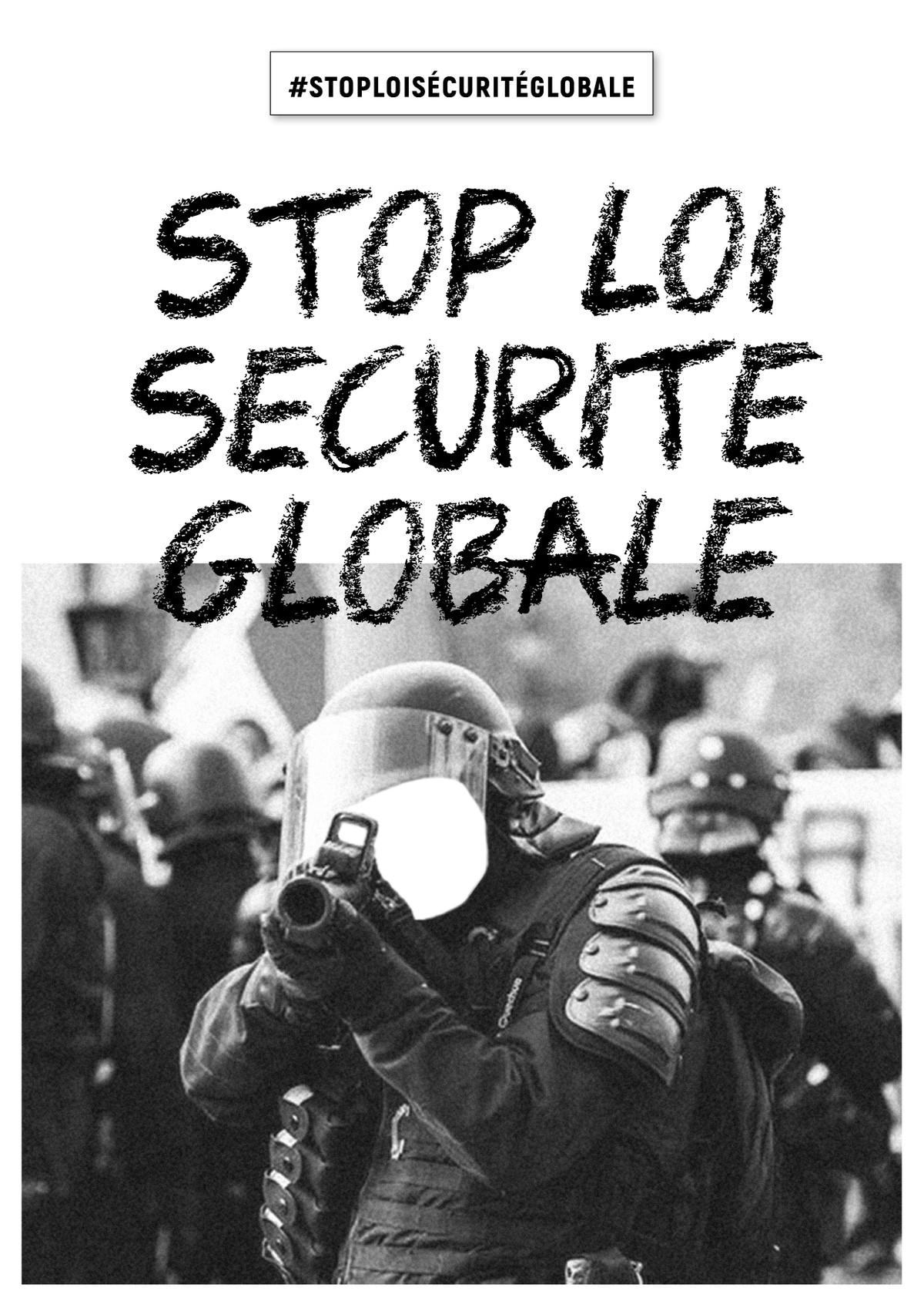 """Rassemblement contre le projet de loi """"Sécurité globale"""""""