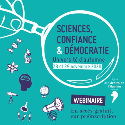 Webinaire 26e université d'automne : sciences, confiance et démocratie