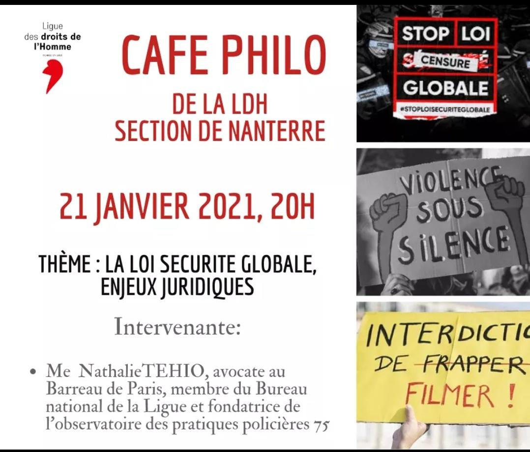 """Visioconférence : """"La loi sécurité globale, enjeux juridiques"""""""