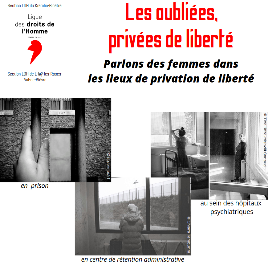 Conférence-débat : Les oubliées, privées de liberté. Parlons des femmes dans les lieux de privation de liberté