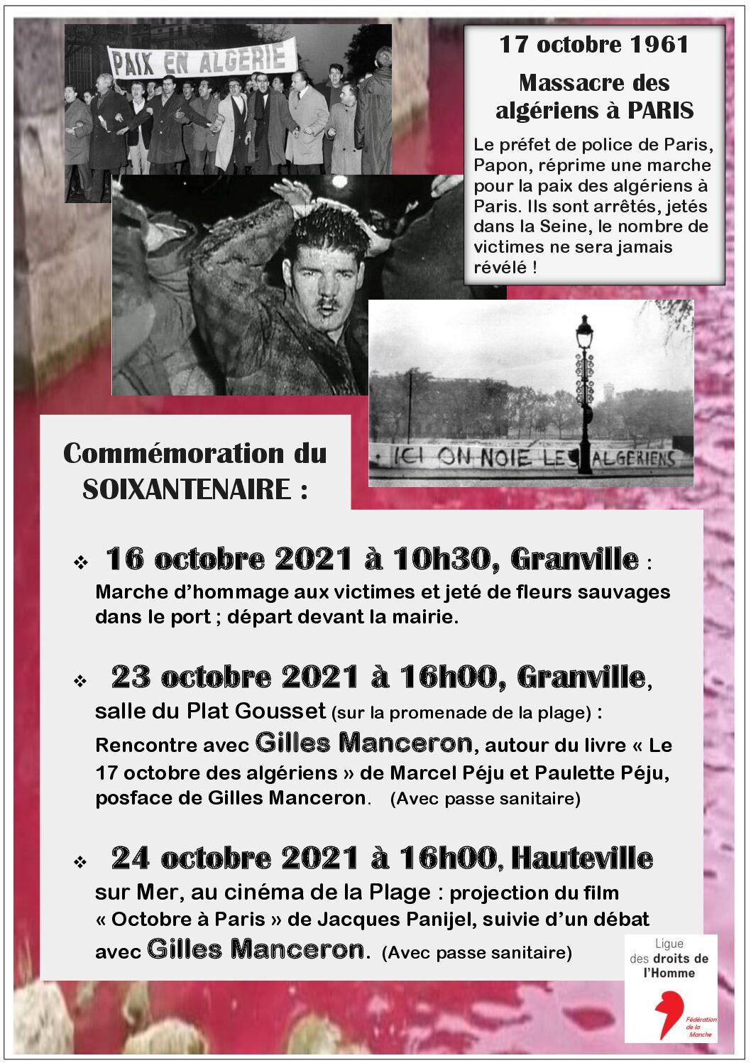 """Rencontre avec Gilles Manceron autour du livre """"Le 17 octobre des algériens"""""""